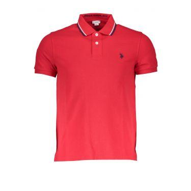 Polo à manches courtes Rouge-855