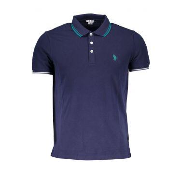 Polo à manches courtes Bleu-677