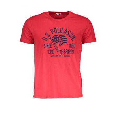 T-Shirt à manches courtes Rouge-555