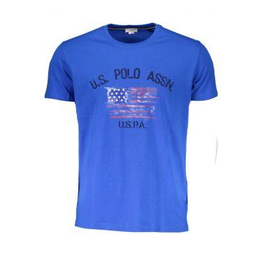 T-Shirt à manches courtes Bleu-837