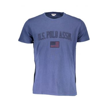T-Shirt à manches courtes Bleu-077