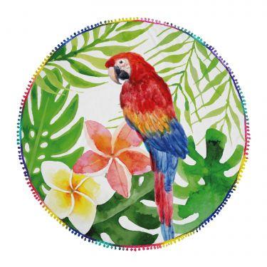 Serviette de plage ronde multicolore-53R