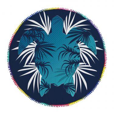 Serviette de plage ronde multicolore-54R