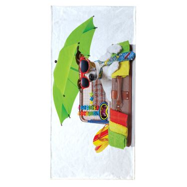 Serviette de plage rectangle multicolore-044