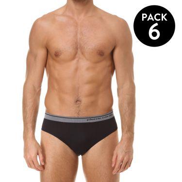 Pack de 6 Slip Noir-3868