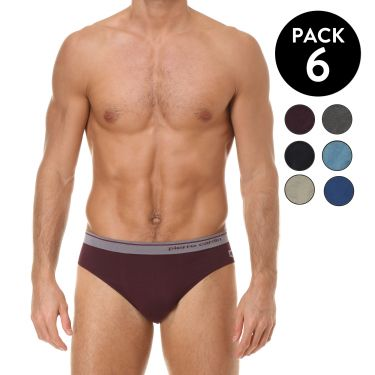 Pack de 6 Slip Multicolore-3868G
