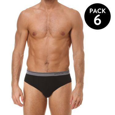 Pack de 6 Slip Noir-3869