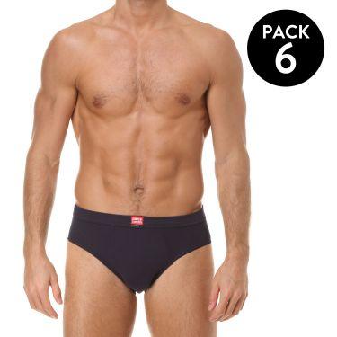 Pack de 6 Slip Bleu Marine-3909