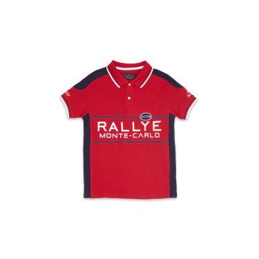 Polo Enfant rallye rouge MC71
