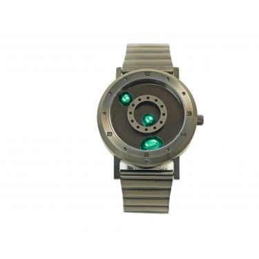 Seahope LM Watch Gunmetal Green metal strap