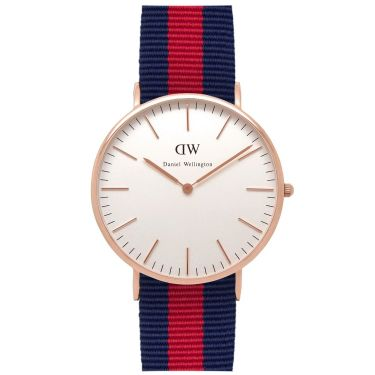 Montre Nylon Rose Gold