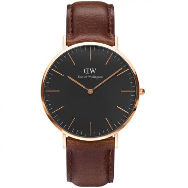 Montre Cuir Rose Gold & Marron