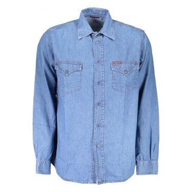 Chemise à manches longues Bleu-AZ