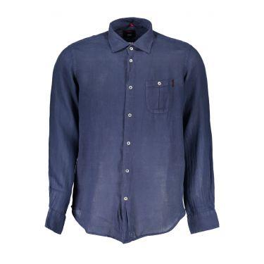 Chemise à manches longues Bleu-BL