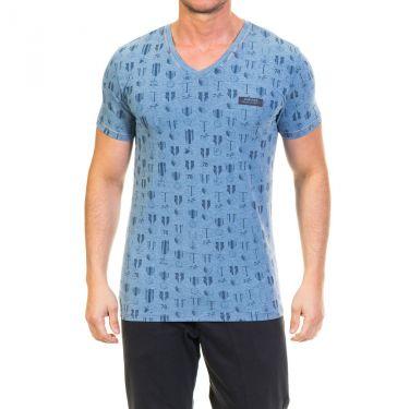 T-shirt Diesel à manches courtes Bleu