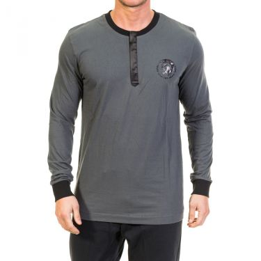 T-shirt Diesel à manches longues Gris & Noir