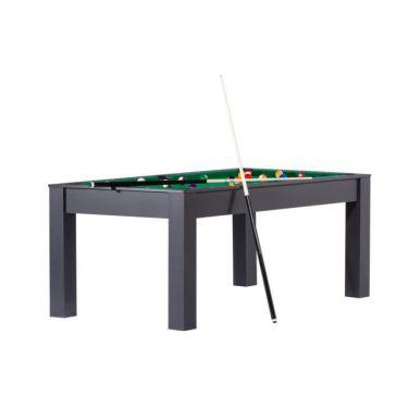 Billard Manhattan convertible en table à manger - Couleur noire avec tapis vert