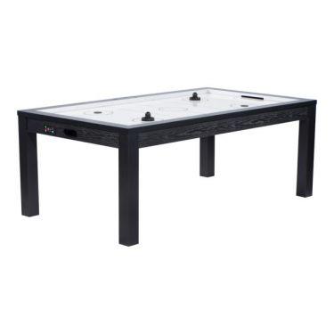 Table Air Hockey convertible en table à manger - Couleur noire