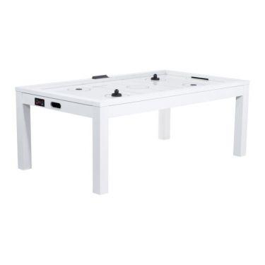 Table Air Hockey convertible en table à manger - Couleur blanche