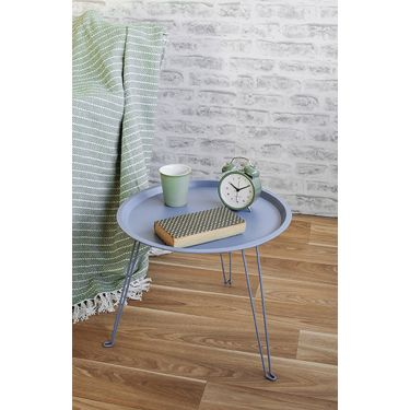 Table d'appoint Tray fer bleu jeans