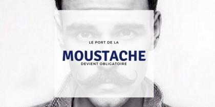 Movember : le port de la moustache est obligatoire